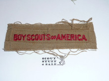 Program Strip - Boy Scouts of America, 1930's, Used