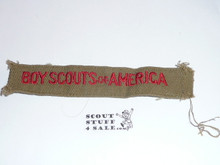 Program Strip - Boy Scouts of America, 1940's, Used