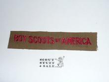 Program Strip - Boy Scouts of America, 1930's #2