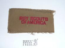 Program Strip - Boy Scouts of America, 1918-1920, Type 1