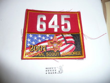2001 National Jamboree Troop 645 Unit Number, Western Los Angeles County Council Troop