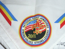 2001 National Jamboree Souvenir Neckerchief signed by scouts