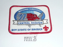 1997 National Jamboree Central Region Rectangular Patch, Red bdr
