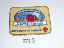 1997 National Jamboree Central Region Rectangular Patch, Gold Mylar