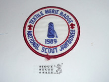 1989 National Jamboree Textile Merit Badge Patch