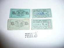 1985 National Jamboree Trading Post Tickets