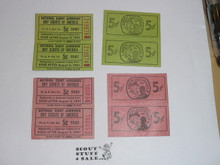 1981 National Jamboree Trading Post Tickets