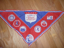 1969 National Jamboree Souvenir Neckerchief with Envelope, Wrinkled