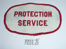 1964 National Jamboree PROTECTION SERVICE Armband, no elastic band, used