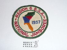 1957 National Jamboree Region 6 Patch, used