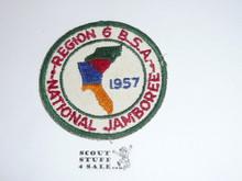 1957 National Jamboree Region 6 Patch