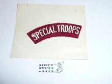 1937 National Jamboree SPECIAL TROOPS Segment