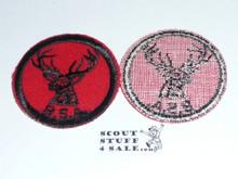 Stag Patrol Medallion, Felt w/BSA black/White ring back, 1940-1955