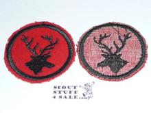 Stag Patrol Medallion, Felt No BSA & Gauze Back, 1927-1933