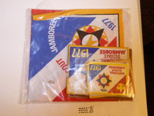 1977 National Jamboree Patch, Jacket Patch, Leather Jacket Patch, Neckerchief and Sticker