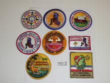 1973 National Jamboree Reproduction Patch Set