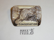 Philmont Scout Ranch Plaster Neckerchief Slide, Conservation