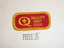 Quality Unit Patch, 2002