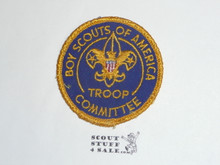 Troop Committee Patch (TC3), 1970-1972, sewn