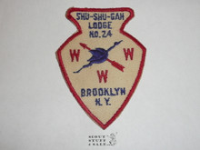 Order of the Arrow Lodge Shu-Shu-Gah #24 a1 Arrowhead Patch