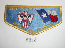 Order of the Arrow Lodge #99 Tonkawa s27 2001 NJ Flap Patch