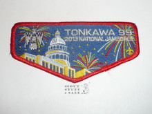 Order of the Arrow Lodge #99 Tonkawa 2013 red bdr NJ Flap Patch