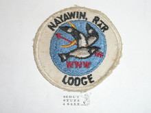 Order of the Arrow Lodge #296 Nayawin Rar r4 round Patch, lite box soiling