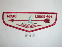 Order of the Arrow Lodge #495 Miami f1 First Flap Patch