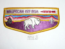 Order of the Arrow Lodge #197 Waupecan s20 Flap Patch