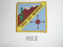 Three Day Backpack High Adventure Team (HAT) Award Patch