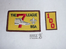 The 7 League High Adventure Team (HAT) Award Patch, 100 nights segment