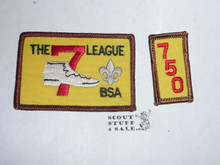The 7 League High Adventure Team (HAT) Award Patch, 750 nights segment, rolled edge