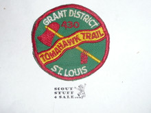 Tomahawk Trail - St. Louis Area Council Patch, box soiling