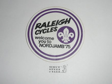 1975 World Jamboree Raleigh Cycles Welcome Sticker