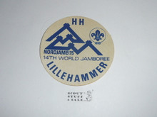 1975 World Jamboree Subcamp Sticker - Lillehmmer