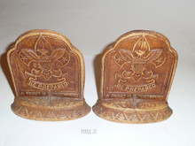 1950's Syroco Boy Scout Bookends In Magnificent Condition