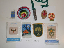 Group of Non-USA Boy Scout Items Acquired at the 1975 World Jamboree