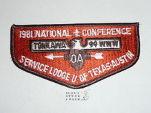Order of the Arrow Lodge #99 Tonkawa s12 Flap Patch