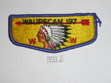 Order of the Arrow Lodge #197 Waupecan s7b Flap Patch