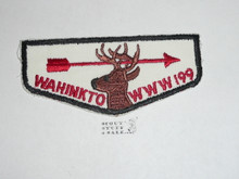 Order of the Arrow Lodge #199 Wahinkto f1a First Flap Patch