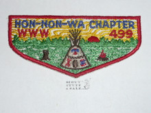 Order of the Arrow Lodge #499 White Feather Hon-Non-Wa Chapter f1 Flap Patch