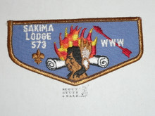 Order of the Arrow Lodge #573 Sakima f1 Flap Patch