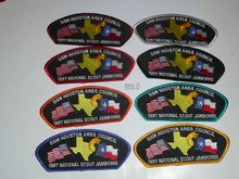 1997 National Jamboree JSP - Sam Houston Area Council, set of 8