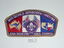 1987-88 World Jamboree JSP - Sam Houston Area Council