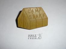 Camp Staff Tent Green NEAL Neckerchief Slide - RARE