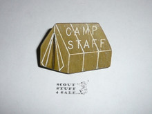 Camp Staff Tent Green w/white highlights NEAL Neckerchief Slide - RARE