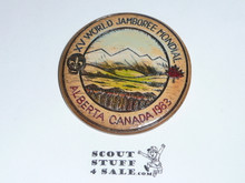 1983 Boy Scout World Jamboree Resin Neckerchief Slide