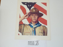 Norman Rockwell, We Too Have a Job to Do Print, 11x14 On Heavy Cardstock, slight dogeared corners and/or watermark but print is unaffected and will frame or show fine
