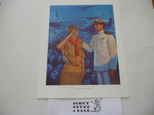 Norman Rockwell, The Great Adventure, 11x14 On Heavy Cardstock, slight dogeared corners and/or watermark but print is unaffected and will frame or show fine