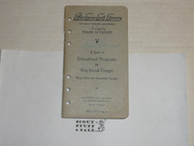 1926 A Year of Educational Programs for Boy Scout Troops, By Frank Cheley, Little Loose Leaf Series Bulletin #3